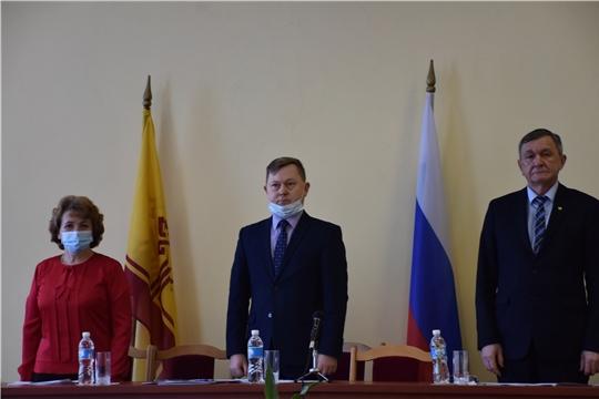 Состоялось V внеочередное заседание Собрания депутатов Аликовского района VII созыва