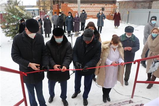 Открытие модульного фельдшерско-акушерского пункта в д. Шоркасы