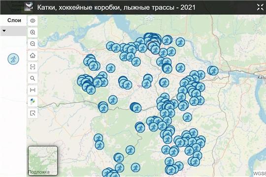 На портале пространственных данных Чувашии появилась карта, посвящённая активному зимнему отдыху