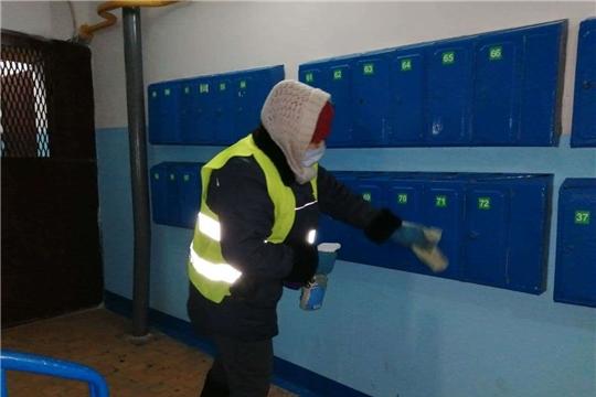 В Чебоксарах продолжается санитарная обработка мест общего пользования