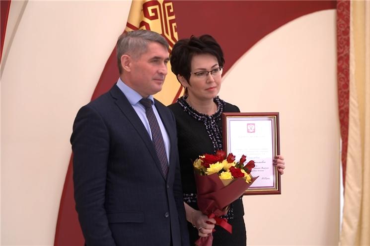Глава Чувашии Олег Николаев вручил государственные награды.