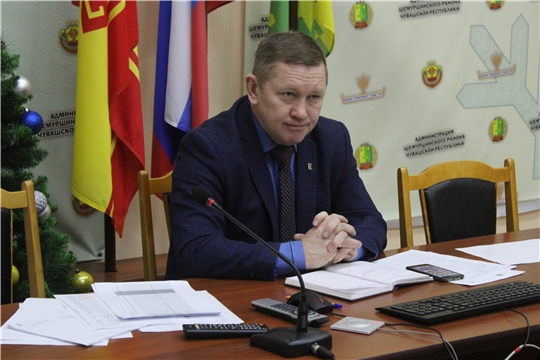 Заседание оперативного штаба по предупреждению распространения новой коронавирусной инфекции на территории Шемуршинского района