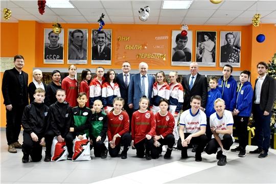 Встреча с юными футболистами республики