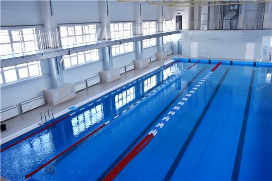 В селе Аликово по федеральному проекту «Спорт – норма жизни» завершилось строительство 25-метрового плавательного бассейна