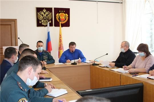 Внеочередное заседание  Комиссии по чрезвычайным ситуациям и обеспечению пожарной безопасности Урмарского района