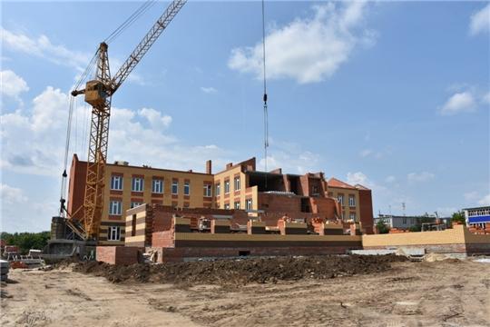 В Аликовском районе идет строительство детского садика на 240 мест в с. Аликово