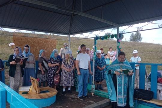 Освящение источника в деревне Сириккасы