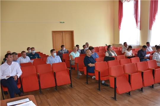 В Аликовском районе прошло внеочередное заседание КЧС и ОПБ