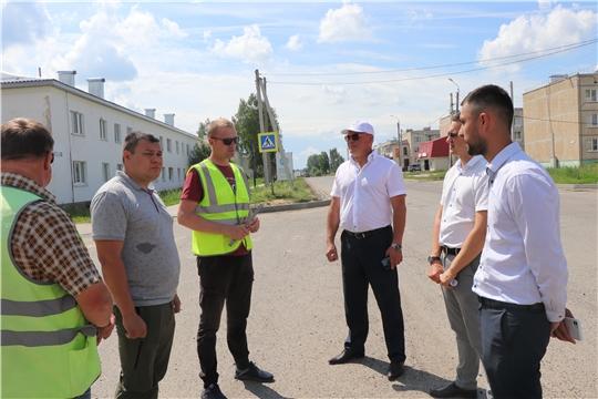 Николай Хорасёв посетил автомобильную дорогу (Волга - Шорчекасы- Атлашево) с целью контроля сроков и качества исполнения муниципального контракта