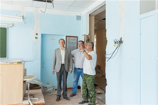 Капитальный ремонт образовательных учреждений Чебоксар – на контроле главы города