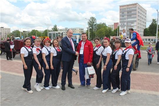 Музей истории трактора побывал с выездной экспозицией в городе Минск
