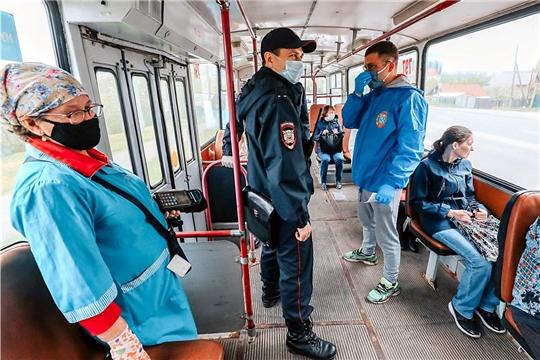 Уже завтра в Чебоксарах пассажиры без масок в общественном транспорте обслуживаться не будут
