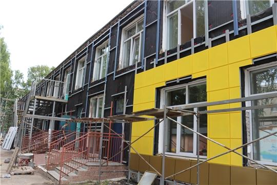 В школах и детских садах города Чебоксары продолжается капитальный ремонт
