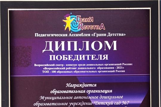 Столичный детский сад вошел в рейтинг лучших «Всероссийского рейтинга дошкольного образования - 2021»