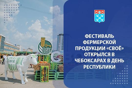 Фестиваль фермерской продукции «СВОЁ» открылся в Чебоксарах в День Республики
