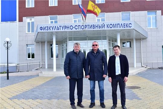 Ибресинский район с рабочим визитом посетил министр физической культуры и спорта Чувашской Республики Василий Петров