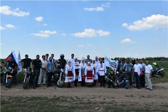 Участникам мотопробега передана земля с места строительства Казанского обвода