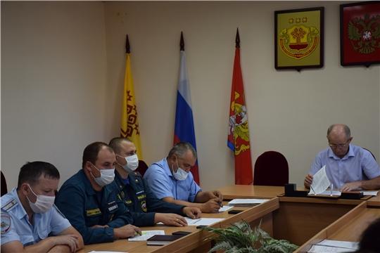 Внеочередное заседание комиссии по предупреждению, ликвидации чрезвычайных ситуаций и обеспечению пожарной безопасности Красночетайского района