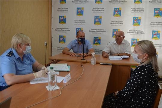 Мариинско-Посадский район посетил прокурор Чебоксарской межрайонной природоохранной прокуратуры Ирина Бородина