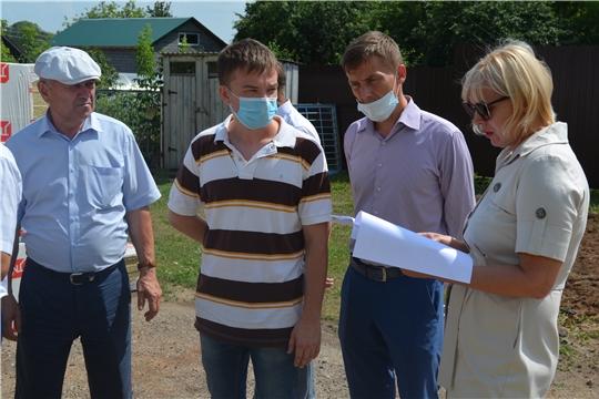 Министр культуры Светлана Каликова проинспектировала строительство Дома культуры в Моргаушском районе
