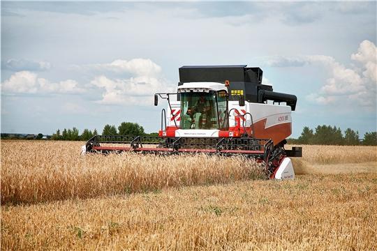 На 20 июля хлеборобами республики намолочено 30,5 тыс. тонн зерна