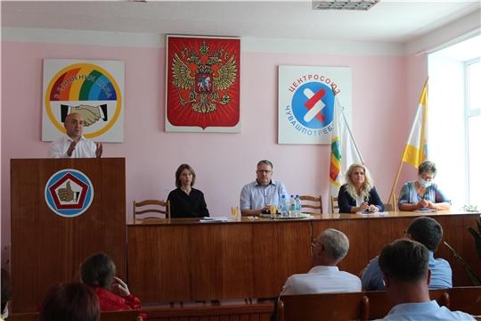 Порецкий район с рабочим визитом посетили министры Алла Салаева и Сергей Артамонов