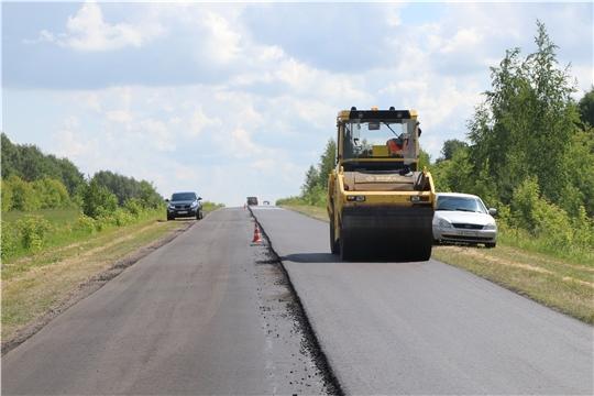 В Чебоксарском районе по нацпроекту ремонтируют автодорогу Волга - Шорчекасы- Атлашево