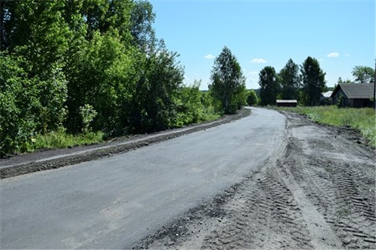 В Вурнарском районе проведен осмотр проведенного ремонта на участках районных дорог