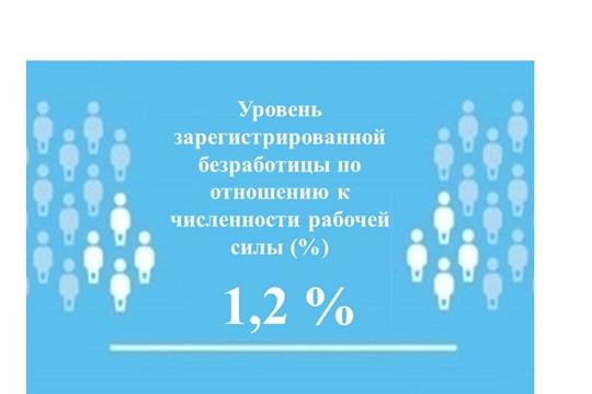 Уровень регистрируемой безработицы в Чувашской Республике составил 1,2 %
