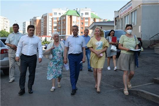 Во дворах Московского района г. Чебоксары начались общественные приемки дворовых территорий