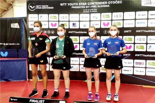 Анастасия Иванова и Юлия Пуговкина – победители открытого первенства Словении по настольному теннису