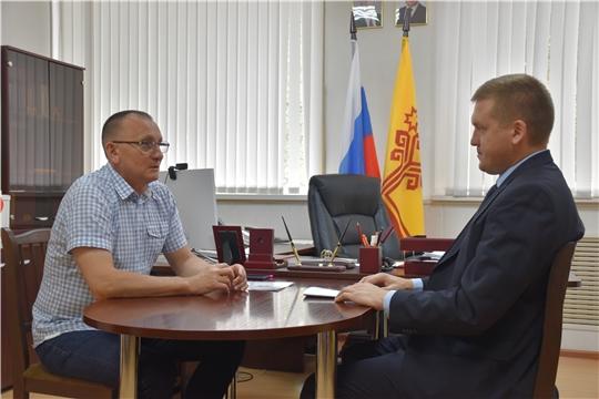 Рабочий визит В.Петрова в Янтиковский район