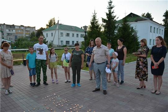 В п. Вурнары состоялась акция «Свеча памяти»