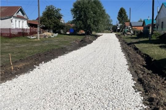В Сявалкасинском сельском поселении завершен ремонт автомобильной дороги с щебеночным покрытием в д. Тузи-Мурат