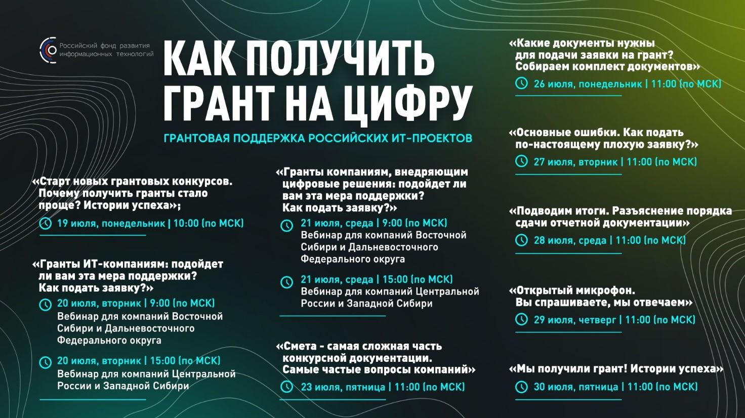 Российские IT-компании получат гранты на 3,8 миллиарда рублей