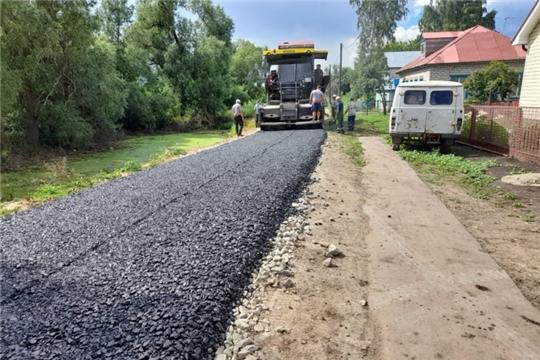 Строительство дороги в с.Большая Таяба продолжается