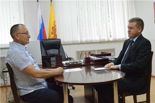 Янтиковский район с рабочим визитом посетил министр физической культуры и спорта Чувашской Республики Василий Петров