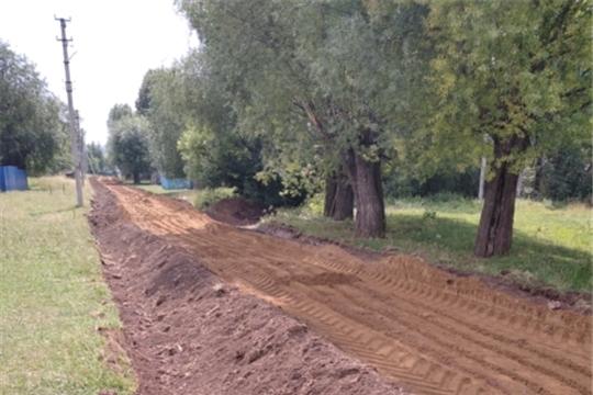 В д. Анишкасы приступили к ремонту дорог в рамках инициативного бюджетирования
