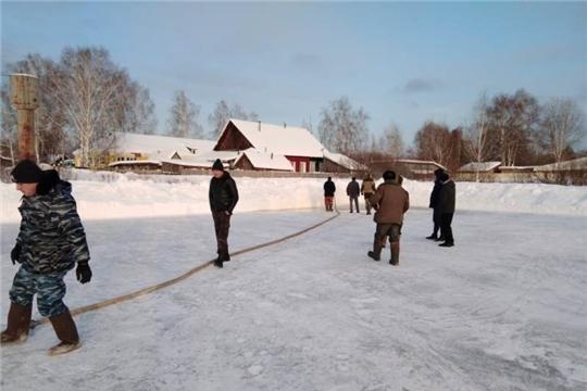 В Алатырском районе заработали зимние катки