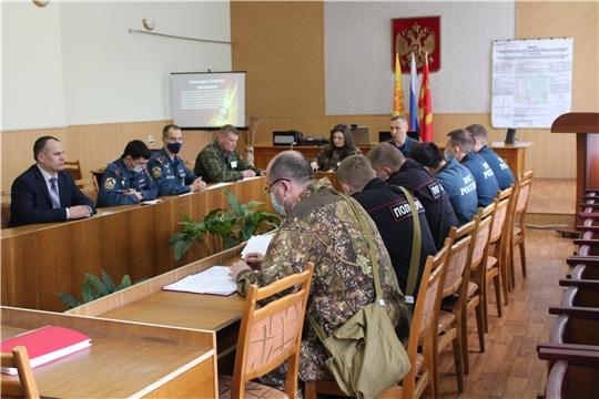 Подведение итогов командно-штабной тренировки в Алатырском районе