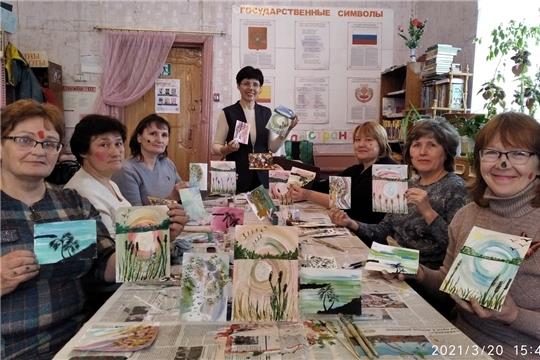 Мастер-класс по интуитивному правополушарному рисованию в Первомайской библиотеке