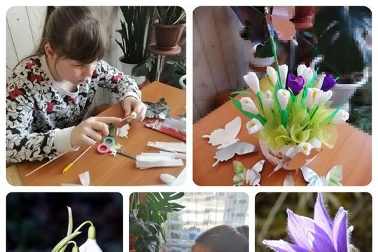 Мастер-класс по изготовлению цветов «День подснежника»