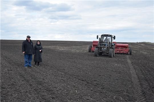 Яровой сев ведется в 5 хозяйствах Алатырского района