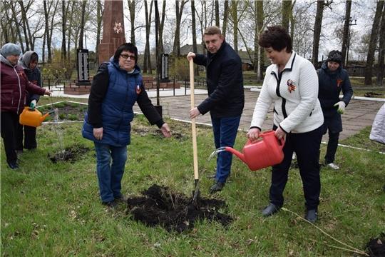 В Алатырском районе Памяти Павших Бойцов стартовала акция  «Сад памяти - 2021»
