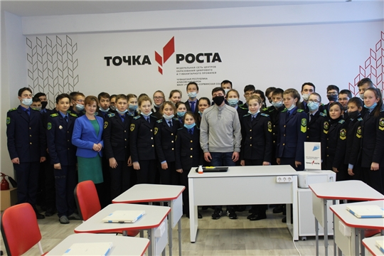 Кадеты Чувашско-Сорминской школы встретились с курсантом Кремлевского военного училища