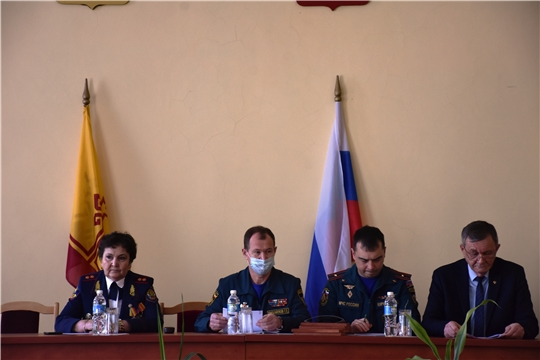 Состоялось заседание комиссии по предупреждению и ликвидации чрезвычайных ситуаций и обеспечению пожарной безопасности в Аликовском районе
