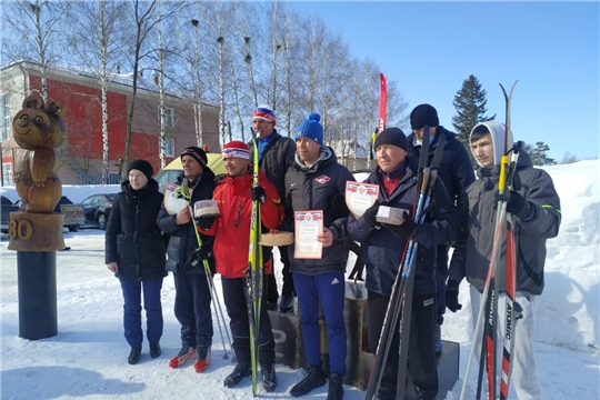 Эстафета по лыжным гонкам в зачет Спартакиады работников образовательных учреждений Аликовского района