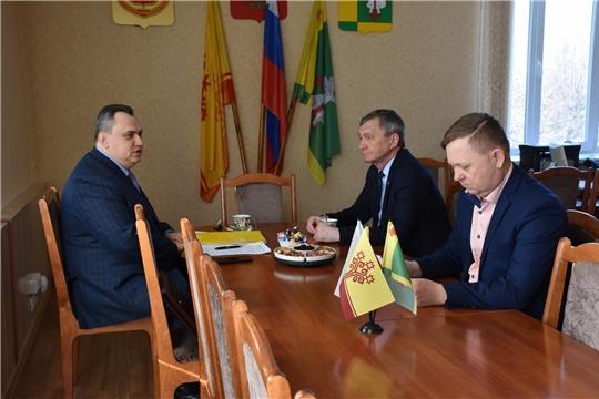 Руководитель Госслужбы Чувашии по делам юстиции Дмитрий Сержантов посетил с рабочим визитом Аликовский район