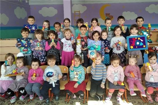 Воспитанники дошкольной группы «Колокольчик» Чувашско-Сорминской школы мечтают стать космонавтами
