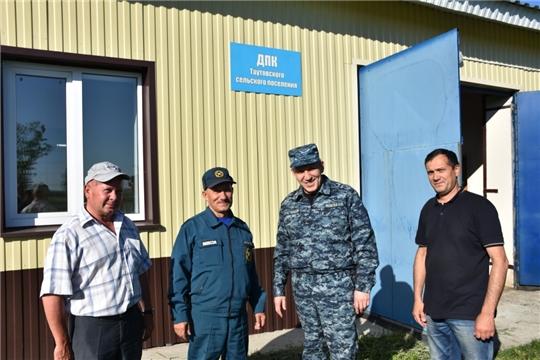 Председатель ГКЧС Чувашии Олег Яковлев посетил  Аликовский район